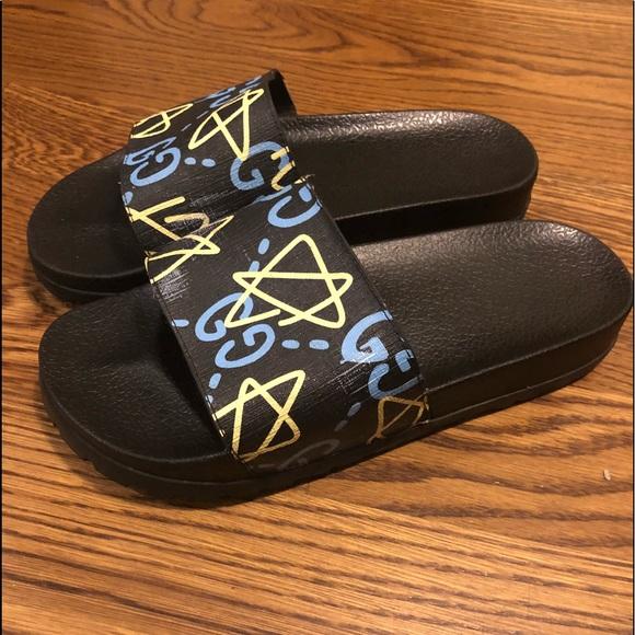 8076d5b48 Gucci Shoes | Ghost Star Slides | Poshmark